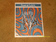 Ohio Express sheet music Down at Lulu's 1968 3 pages (Vg+ shape)