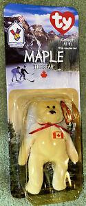 Ty McDonalds Maple the Bear Canada Teenie Beanie Baby In Original Packaging