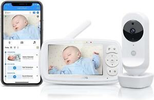 """MOTOROLA EASE44CONNECT Video Baby Monitor 4"""" LCD Remote Night Vision & Lullabies"""