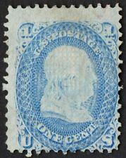 "US Sc# 92 *MINT NG H* { 1c BEN FRANKLIN } ""F GRILL OF 1867 ""SCARCE CV$ 1,000.00"
