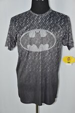 Batman Large Black Gray Crewneck Short Sleeve T-Shirt Logo DC Comics NEW