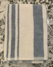 NEW Pottery Barn Morning Stripe Organic HAND Towel BLUE