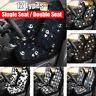 2pcs Universal Car Front Seat Cover Auto Cushion Protector Skull Printed Mat