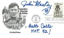 John Mackey signed Jim Thorpe FDC NFL Football Baltimore Colts S.D. Chargers HOF