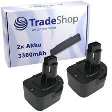 2x batería 12v 3300mah ni-mh reemplaza DeWalt 39774501 de9501 dw9074