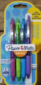 4 x Paper Mate Inkjoy Ballpoint pens Ultra Smooth Ink 4 Colours Medium Point