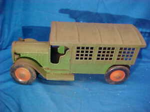 "1920s STRUCTO Pressed Steel US POSTAL Delivery TOY TRUCK 15"" w Original PAINT"