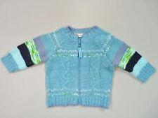 Gilet tricot zippé bleu lagon Clayeux 3 mois garçon