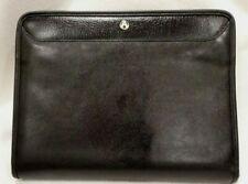 Nearly New Avenues Black Leather Zippered Portfolio 14 X 10 X 2