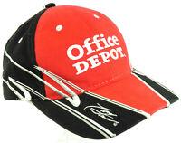 Vintage NASCAR Office Depot Tony Stewart #14 Hat Cap Red Black Winners Circle