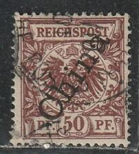 1898 German colony P.O. in China stamps, 50pf, OVPT 56 degree, used SG 12