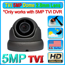 5Mp Tvi Chipset Hd 2.8mm Cctv Wide Angle Weatherproof Outdoor Dome Camera
