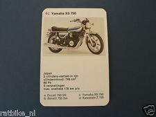 8-MOTOREN 4C YAMAHA XS750  KWARTET KAART MOTORCYCLES, QUARTETT,SPIELKARTE