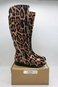 Journee Collection Women's Kerin Knee High Wide Calf Boots Leopard - choose size