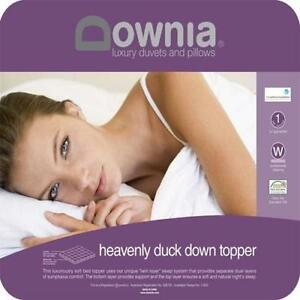 Downia Heavenly Duck Down Luxuriously Soft Bed Mattress Topper-All Sizes