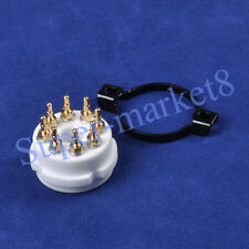 2pcs 8 Pin EL38 6550 KT88 CMC Ceramic Gold Tube Socket