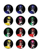 Power Rangers edible party cupcake toppers decoration 12/sheet