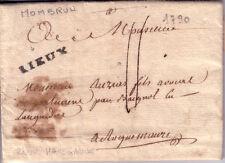 HAUTE GARONNE-RIEUX (MARQUE LENAIN N°1) DE MONTBRUN LE 23 JUIN 1790 -TAXE 11.