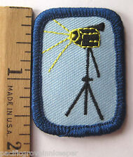 Girl Scout Senior AUDIOVISUAL PRODUCTION BADGE IP Video Interest Project Patch