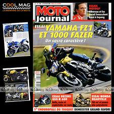 MOTO JOURNAL N°1698 HONDA NTV 700 DEAUVILLE, DEMEESTER, YAMAHA FZ1 & FAZER 1000