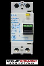 GENERAL ELECTRIC 100 AMP 100mA DOUBLE POLE RCD V/304-029101 660493