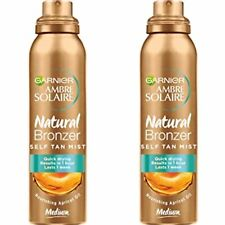 2 X Ambre Solaire Natural Bronzer Self Tan Mist (medium) Apricot Oil