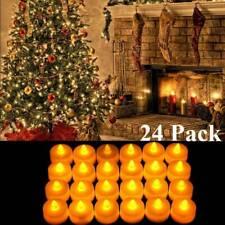 24PCS Flameless Votive Tealight Candles Battery Operated 24 LED Tea Light