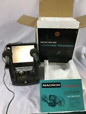 MAGNON CONVERTIBLE DUAL 8MM FILM EDITOR VIEWER VIDEO VINTAGE MADE IN JAPAN