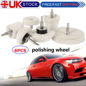 Polishing Buffing Pads Mop Wheel Buffer Pad Drill Kit for Car Polisher 6Pcs Set