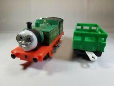 "Thomas The Train ""Whiff"" Trackmaster Train Battery Motorized Mattel 2009 W/ Car"