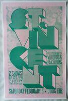 ST. VINCENT 2010 Gig POSTER Portland Oregon Concert
