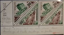 Monaco 1956 556-57 varity reprochó Absente missing reprochó postage due mnh