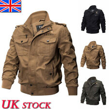 Mens Army Military Combat Coat Warm Jacket Biker Jacket Winter Parka Overcoat UK