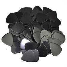 100 pcs New Blank Heavy 0.96mm Guitar Picks Plectrums Celluloid Solid Black