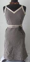 Ann Taylor LOFT Women's Dress Sleeveless Tea Polka Dot Cotton Size 6 P