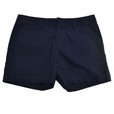 NEW Womens Tommy Hilfiger Masters Navy Twill Bermuda Walking Midi Shorts AU 20