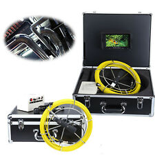 """7"""" LCD Sewer Drain Pipe Wall Inspection Endoscope Camera 100ft Line 16GB IP68"""