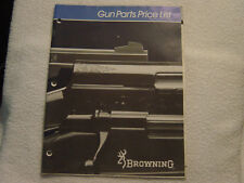 Browning 1983 parts price list catalog exploded views