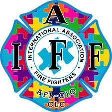 "4"" IAFF Decal Autism Exterior Mount Please Read Auction"