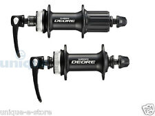 New Shimano Deore M615 Disc Hub set Front and Rear QR Centerlock Rotors 10s