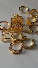 Oro plateado Ajustable elegante Dedo Anillos para mujeres niñas