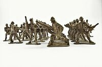 Brown Army Men Toy Plastic Soldiers Miniature Figures Lot Of 30 Pieces 1.75 Inch