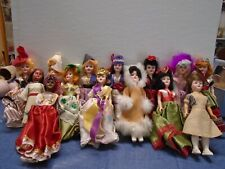 """Lot of 14  8"""" Vintage Souvenir Dolls From Around the World"""