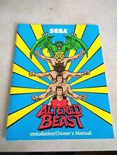 Sega Altered Beast Arcade Manual