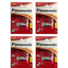 4 Pack Panasonic CR123A CR123 123 K123A 3V Lithium Battery 2025 DATE