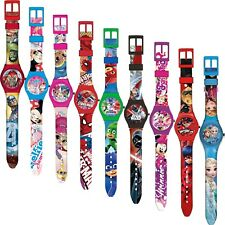 Disney Kinder Silikon Armband Uhr Analog Kinderuhr Armbanduhr Lernuhr Frozen