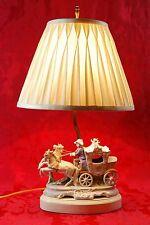 Gorgeous! Vintage Germany #14238 Grafenthal Mark Porcelain Horse Carriage Lamp