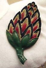 Accéssoire bijou vintage cache en relief déco à coudre couleur vert rouge noir