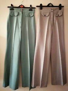Vintage 1970s trousers Oxford bangs Original Northern Soul Flares High waist 26'