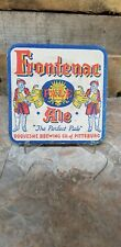 1930's Frontenac Ale Beer Coaster Duquesne Brewing Pittsburg, PA Advertising